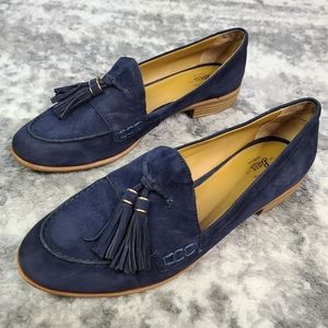G.H. BASS CO. Suede Tassel Loafers Leather